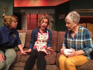 Krisi Pilkington Adams, Christina Julian and Patte Quinn in Farce of Habit